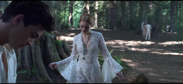 Dorcas outfit costume style look white lace dress Episode 04: The Hare Moon - CAoS S3 E4 0721 - THETVSHOWS - HIGH QUALITY SCREENCAPS