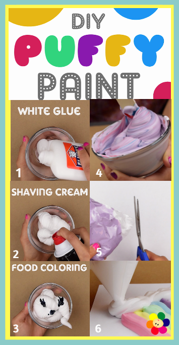 Diy Puffy Paint Video Arts And Crafts