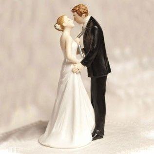 Figurine le marié tenu par la cravate MARIAGE ORIGINAL DT PANY