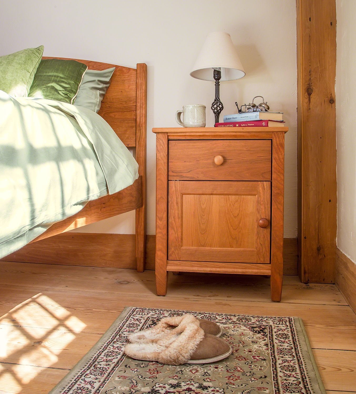 Shaker nightstands handcrafted in vermont in your choice of solid