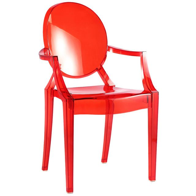 Chaise Plexi Roi Cliquez Sur Limage Pour Shopper Bazarchic Rouge Chair Plastique Design Designer Home Maison Deco Decoration