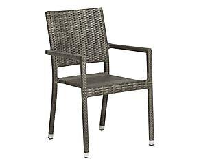 Sedia in alluminio e plastica Santander grigio - 55x87x61 cm