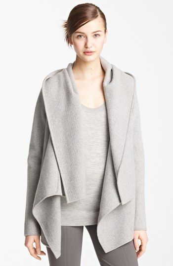 donna karan collection | hooded cashmere sweater jacket | wear and ...