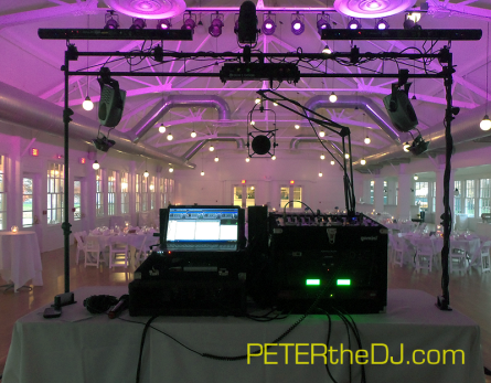 The DJ Eye View Of A Wedding Reception Set Up Before Crowd Arrives At Emerson Park Pavilion In Auburn NY