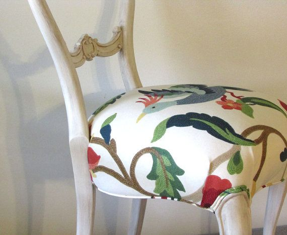 Peacock Occasional Chair Vintage Victorian Accent By RekindleHome, $250.00