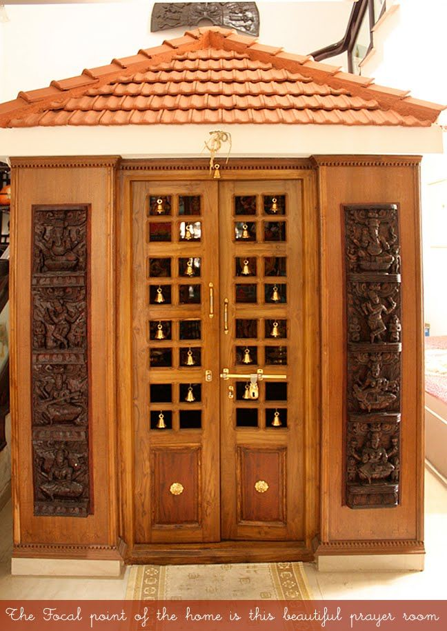 9 Traditional Pooja Room Door Designs In 2020: Prayer-Room; A Sanctum- Sanctorum Of Sorts. Artnlight