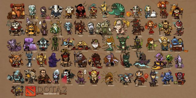 Mini Heroes Dota 2 Art Art Wallpaper Dota 2 Fantasy Art