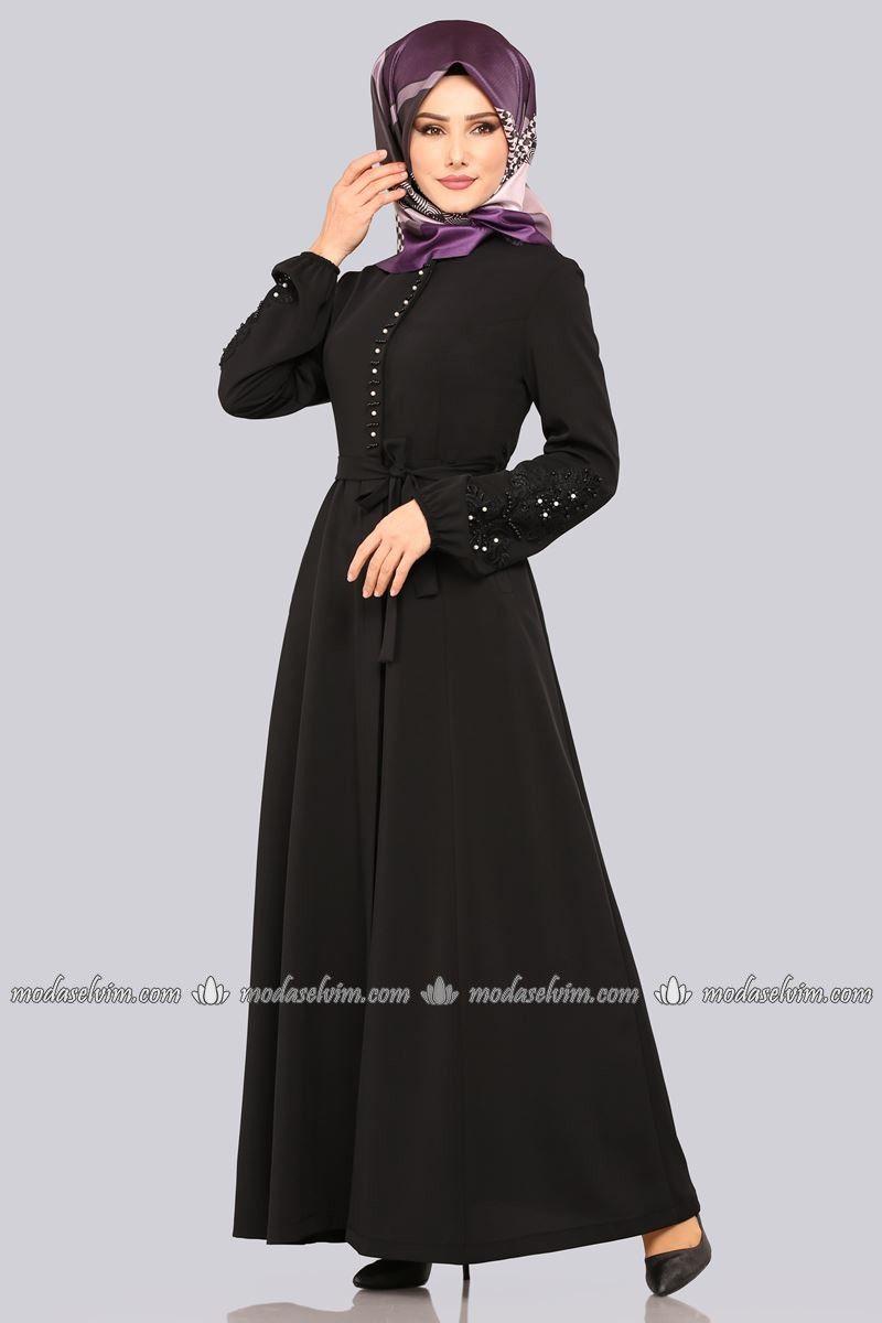 2403ada2ff920 B.R.B. - Yeleği Flok Detayli Tesettür Elbise BRB3027 Mor (1) | model, 2019  | Dresses, Fashion ve Model