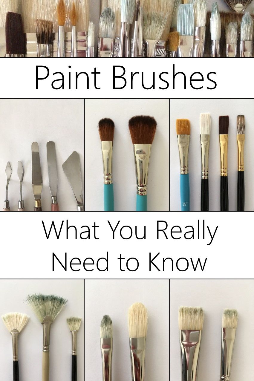 Paintbrushes guide for use with oil paints. The different types you need to know for oil painting and the difference between natural and synthetic bristles. #oilpainting #painting #paintbrushes
