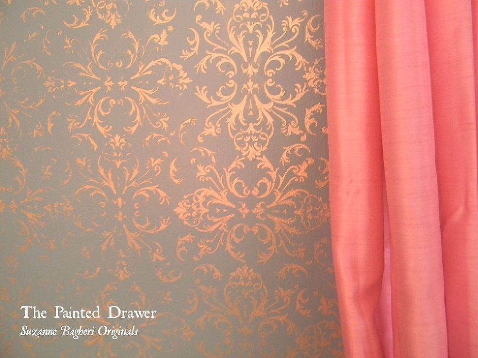 Gold Stenciled Walls. Gold Stenciled Walls   Provence  Stenciling and Gray