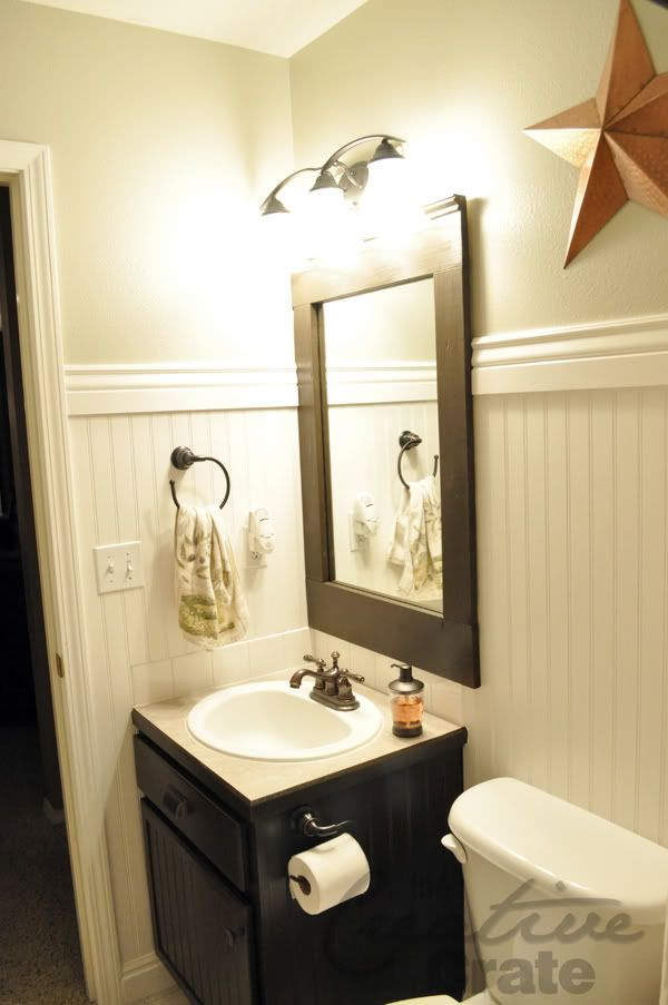 I would love to add beadboard to my bathroom walls and - Beadboard small bathroom pictures ...
