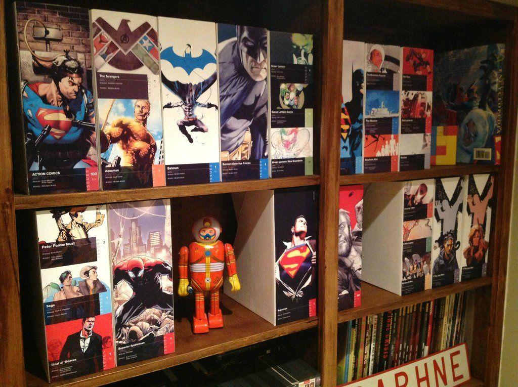 Man Cave Ideas Reddit : Custom comic shelf slips shelves and organizing