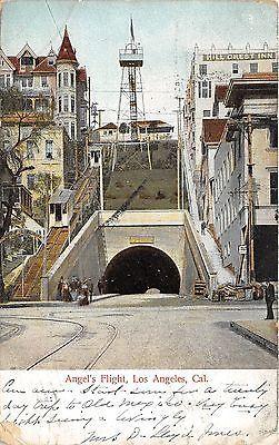 1906 Los Angeles California~Angel's Flight~Incline Railway Car