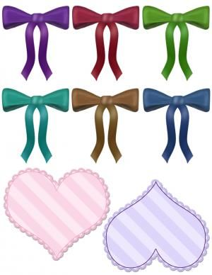 free scrapbook clip art hearts and bows printables pinterest rh pinterest com Scrapbook Cover Clip Art Scrapbook Cover Clip Art