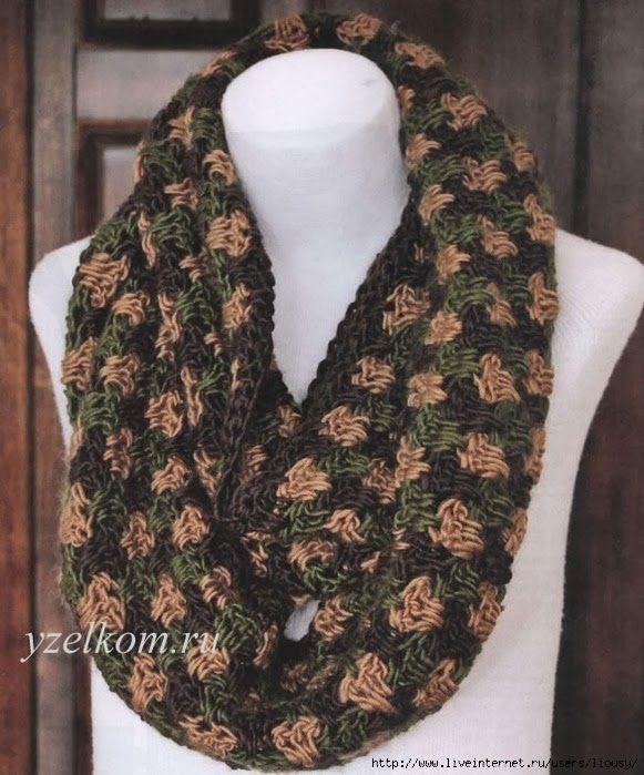 TRICO y CROCHET-madona-mía: Bufanda Circular a Crochet con patrón ...