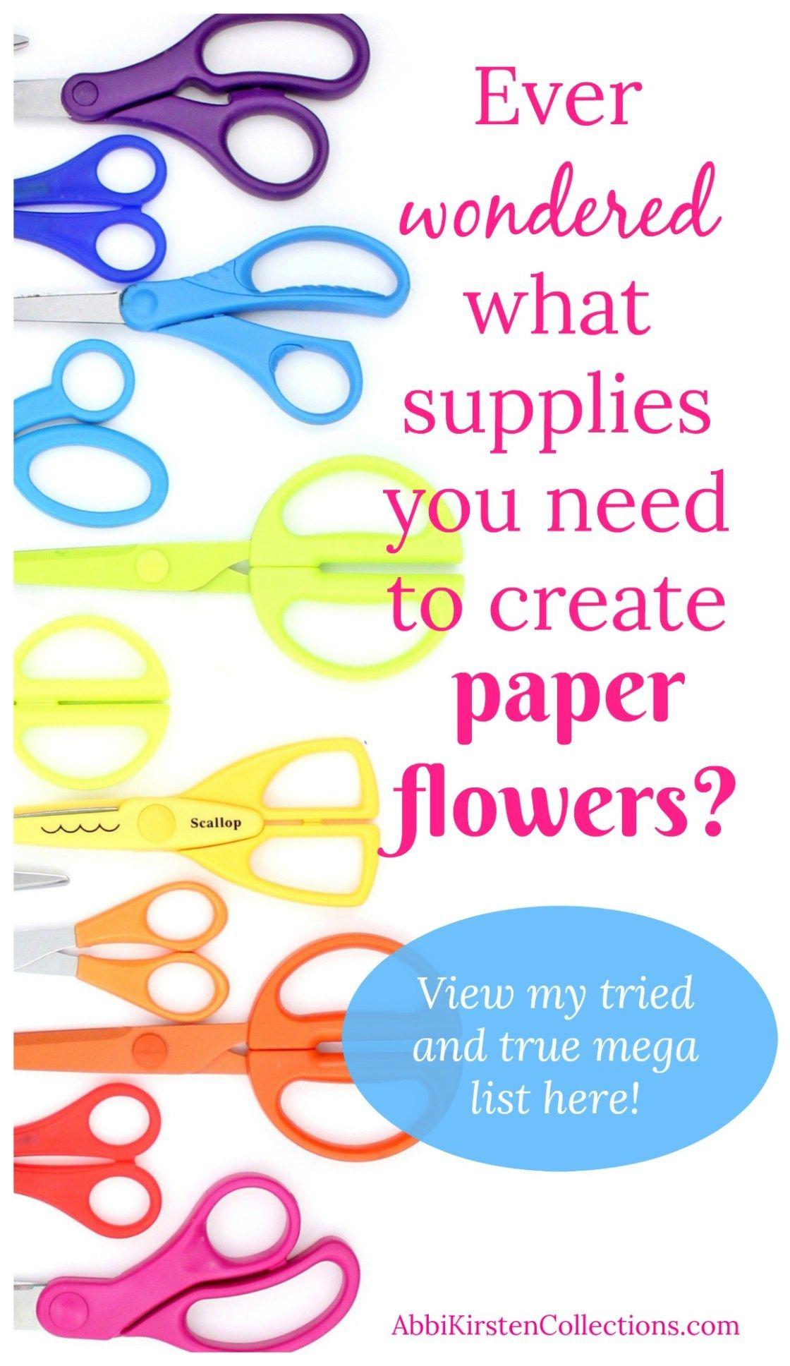 Make your own paper flowers Paper Flower Making Supply List  Pinterest