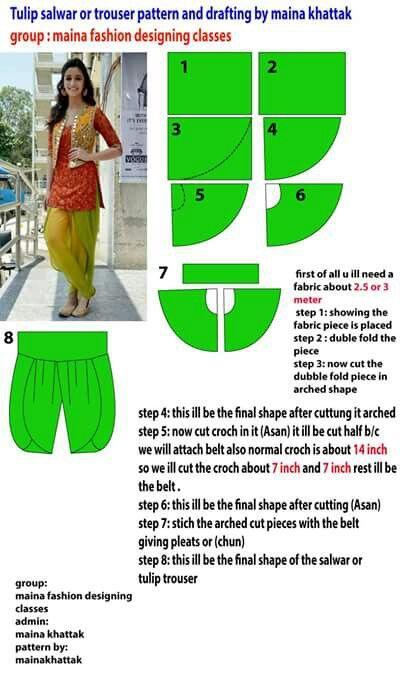 Tulip Pant Pattern Shalwar Kameez 2016 Pinterest Pants Pattern
