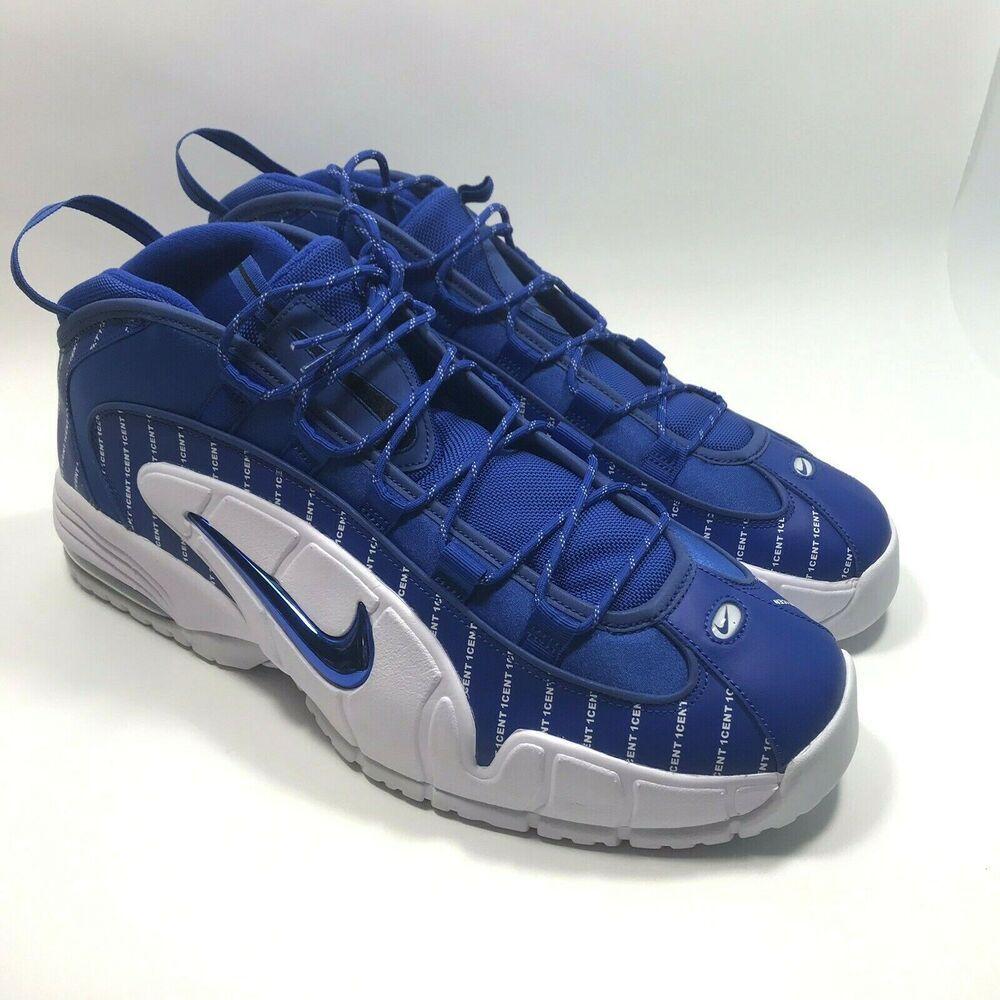 167c237d496 Nike Air Max Penny 1 Pinstripe Game Royal Mens Size 15 LTD Edition AV7948- 400