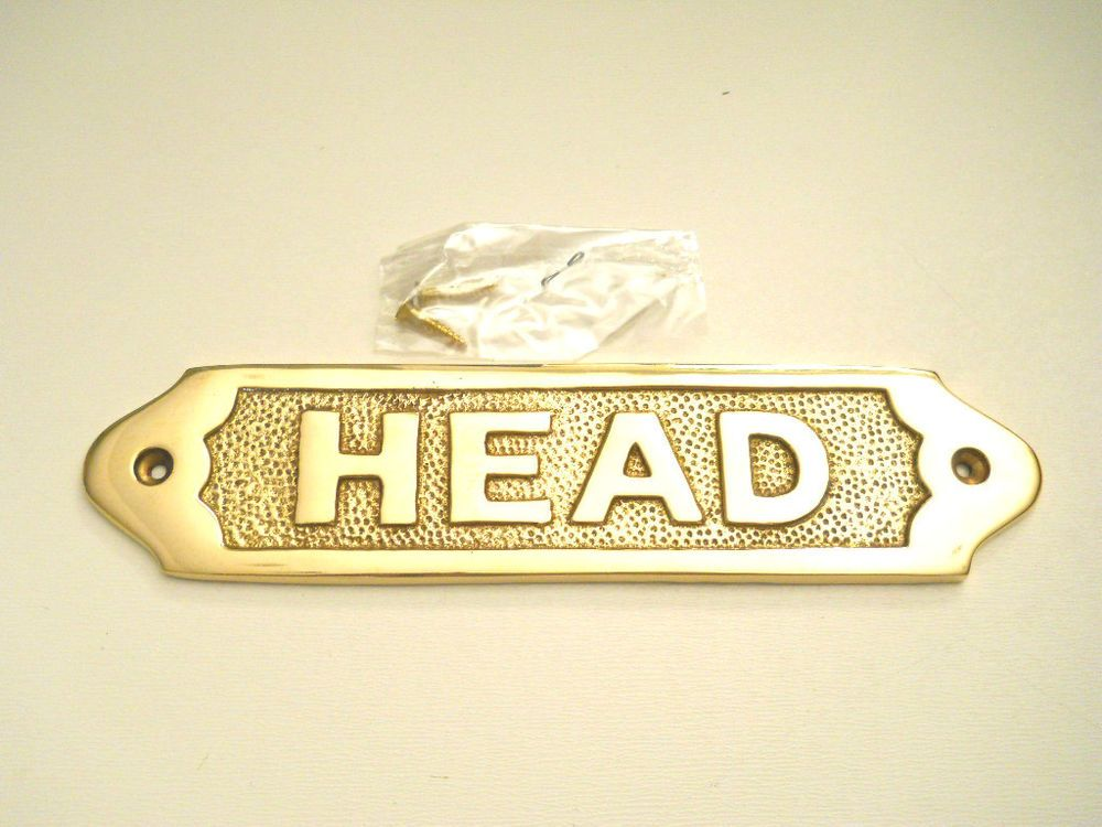 Nautical Maritime Solid Brass Head Door Sign Decorative Wall Plaque ...