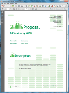 Music Dj Sample Proposal  The Music Dj Proposal Is An Example Of