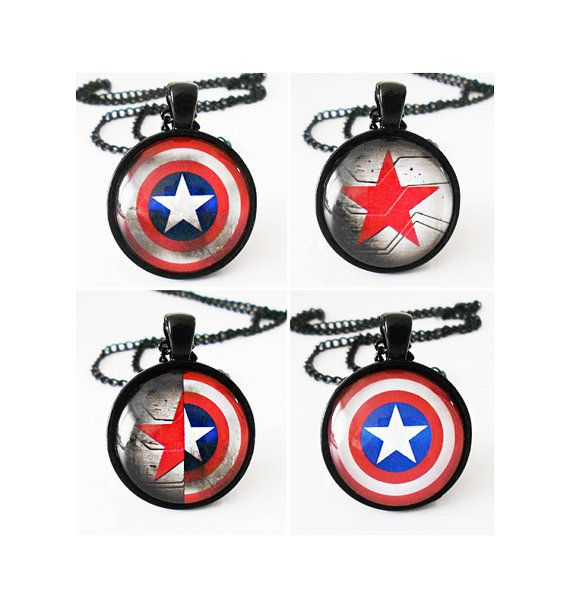 Captain America And Winter Soldier Necklaces By Landofrapture 1600