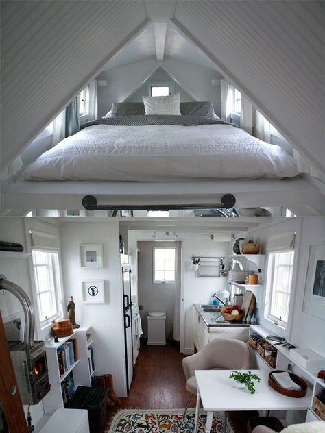 Dachschräge Schlafzimmer Satteldach-Maisonette Wohnung-platzsparend Design #cozybedroom
