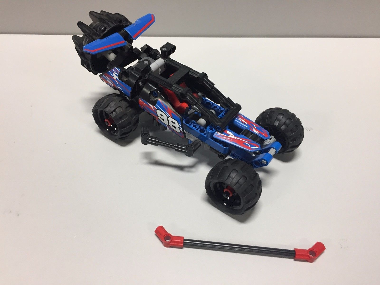 Lego car toys  LEGO Technic  OffRoad Racer Used with a pullback motor