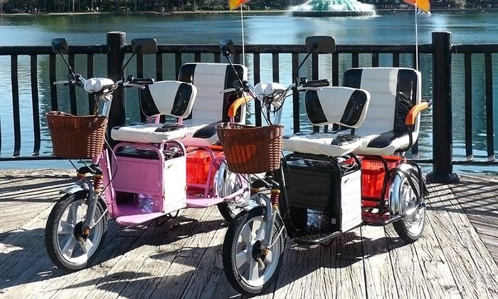 Two Or Four Hour Electric Tricycle Rental From Trikaroo 50 Off Electric Tricycle Comfort Bike Power Scooter