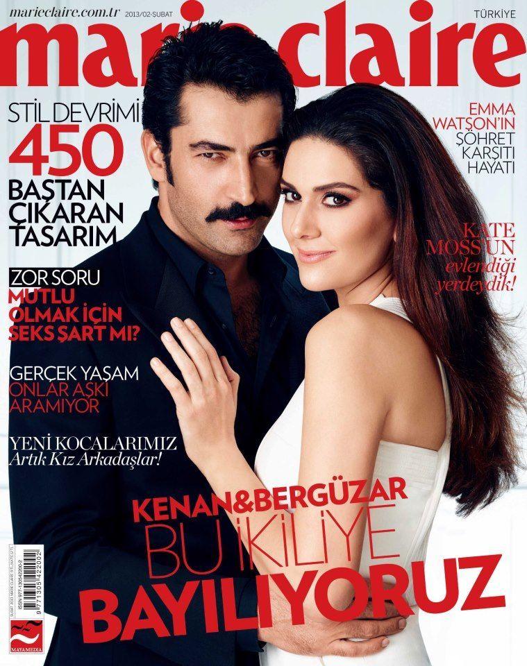 Kenan Imirzalioglu, Bergüzar Korel - Marie Claire Magazine Cover [Turkey] (February 2013)