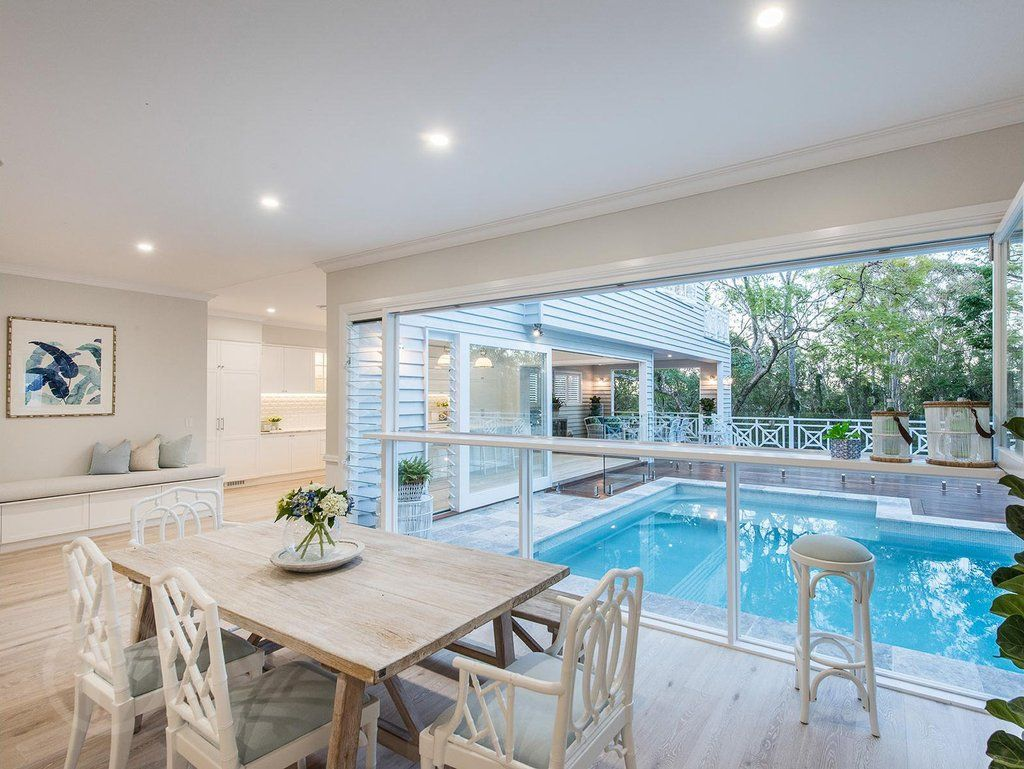 Stunning hamptons queenslander style home in brisbane for Pool design brisbane
