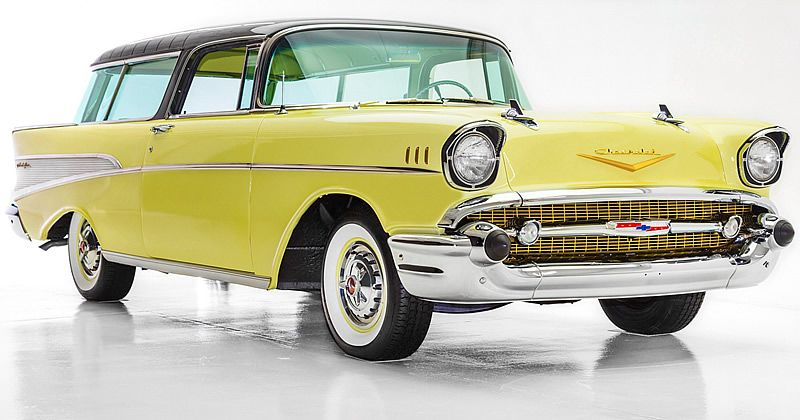 1957 Chevrolet Bel Air Nomad Onyx Black 283 V8 American