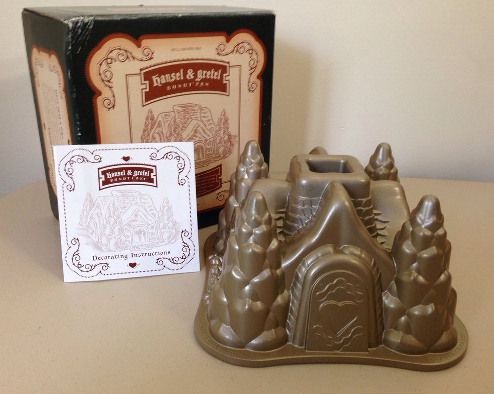 Bundt cake pans for sale - Nordicware Hansel And Gretel House Shaped Bundt Cake Pan Gold In Color For Sale On Ebay
