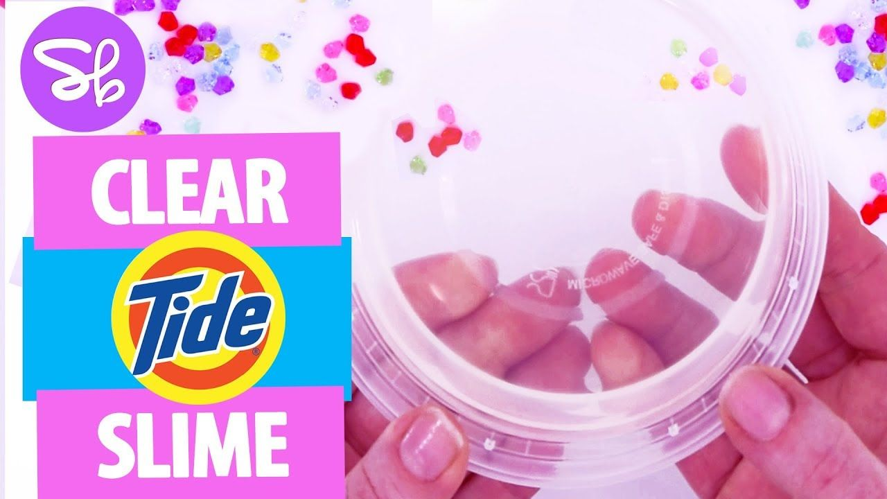 Tide Slime Recipe for Super Clear Slime Slime with tide