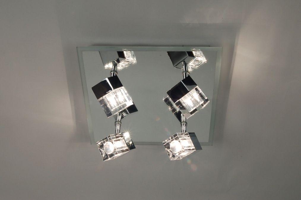 Artikel 65213 een hele mooie luxe badkamer plafondlamp van metaal