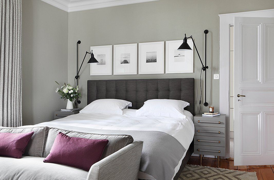 Great color; love the black and white art in white frames
