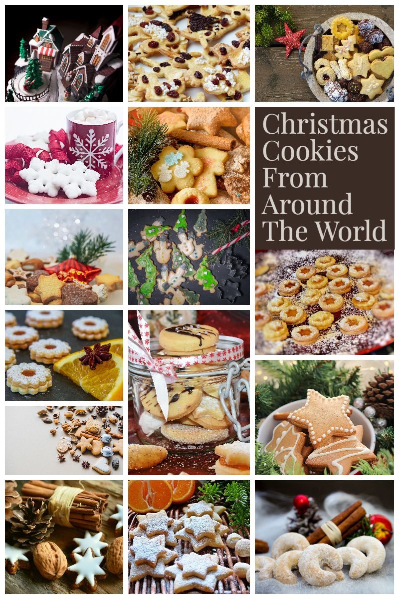 Christmas Cookies & Bars From Around The World- America is baking cookies for the holidays. To ...
