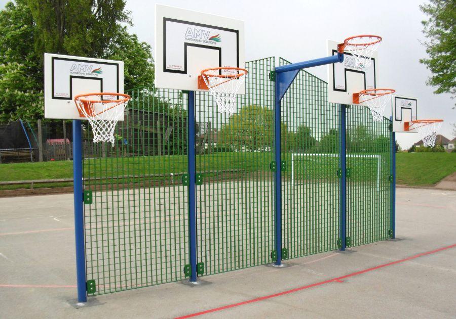 Ball Challenge Zone, Basketball & Netball Posts, AMV Playgrounds.