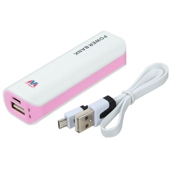 Mybat Li-Ion Power Bank (2600mAh) - White Pink