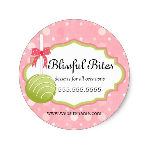 Shop cake pops bakery business classic round sticker created by socialitedesigns