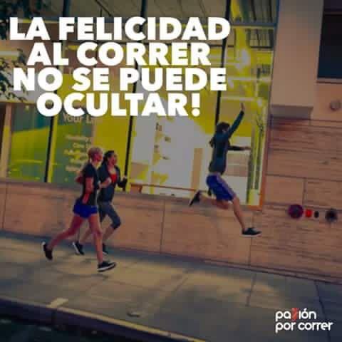 Felicidad al correr