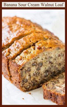 Banana Sour Cream Walnut Bread, an Old Fashioned V