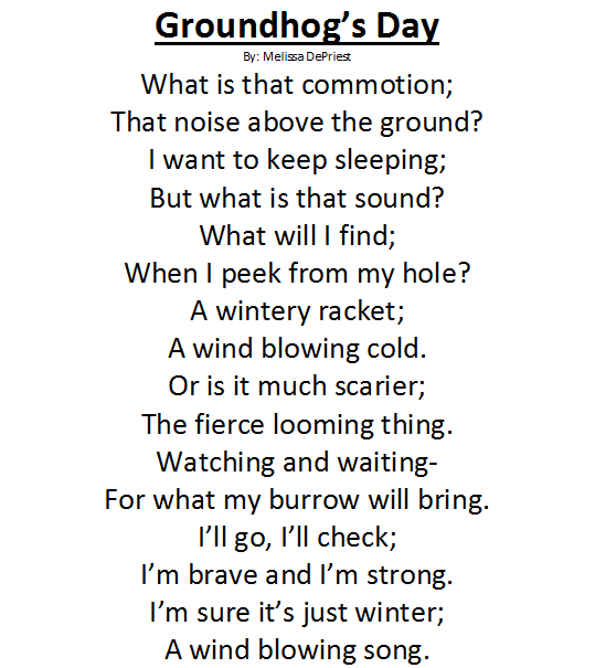 groundhog day poems for grade 1 - Google Search | Poetry for Kids ...