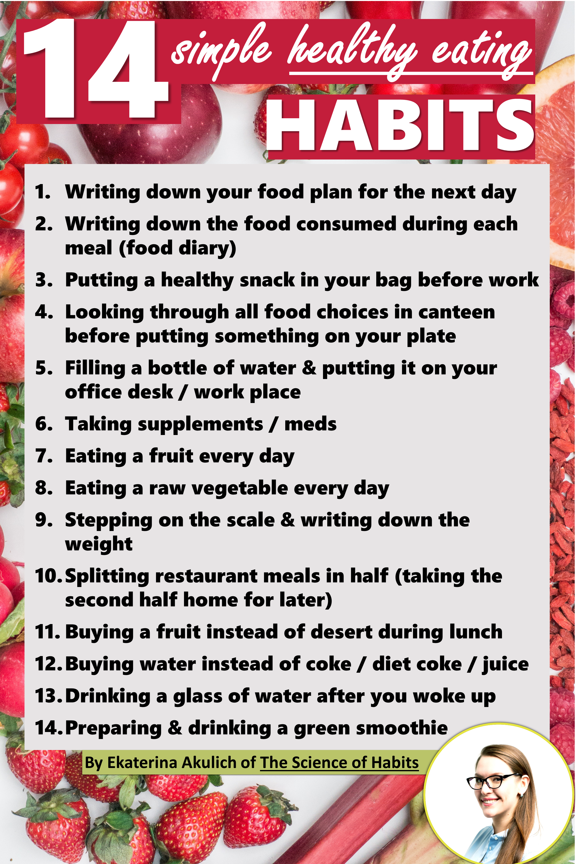 This Pin Gives An Idea Of Simple Healthy Eating Habits
