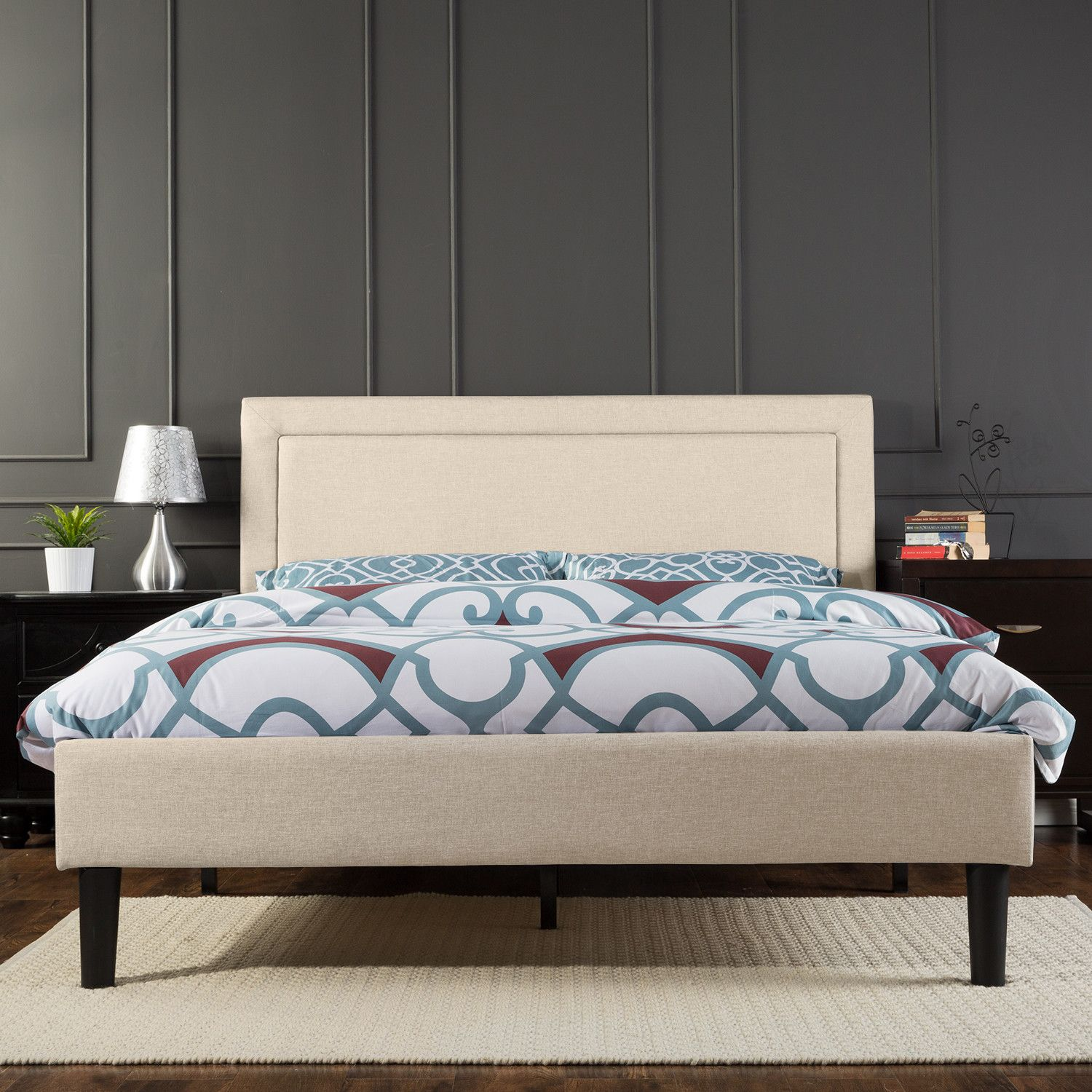 orthotherapy upholstered platform bed reviews wayfair decor