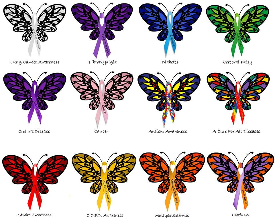 3fc09d795169d Donnee Spencer's Medical Awareness Butterflies – Which one do you want a  copy of? | Patient Talk