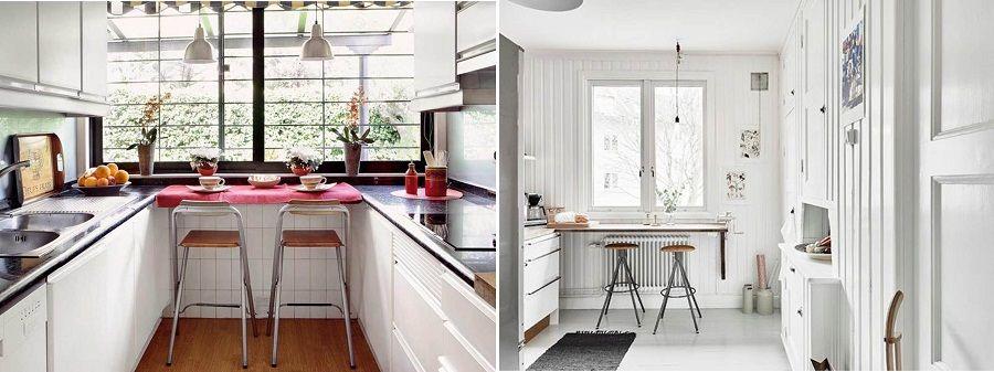 Cómo incorporar una barra en una cocina pequeña. Cocina. Plantas ...