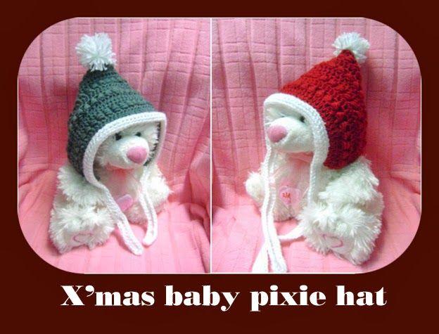 Christmas Baby Pixie Hat Crochet Stiches Pinterest Pixies