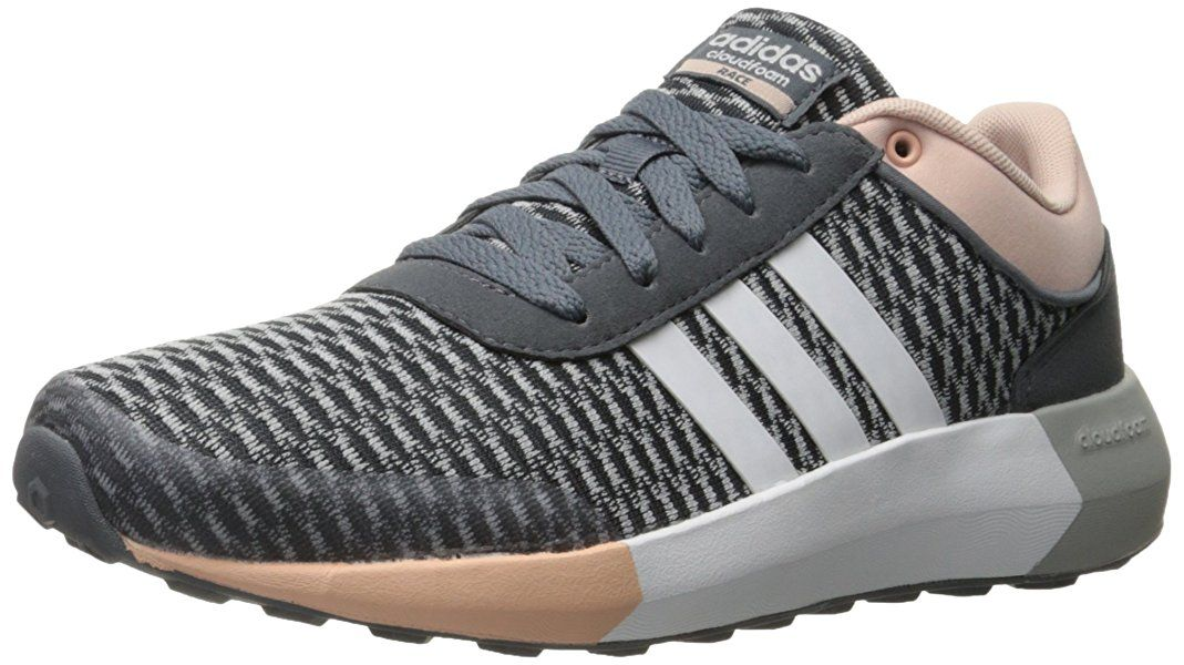 adidas neo - donne cloudfoam corsa w scarpa da corsa, onix / bianco / vapore
