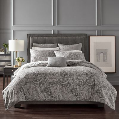 Charisma Pierrefort Queen Duvet Cover In Silver Comforter Sets