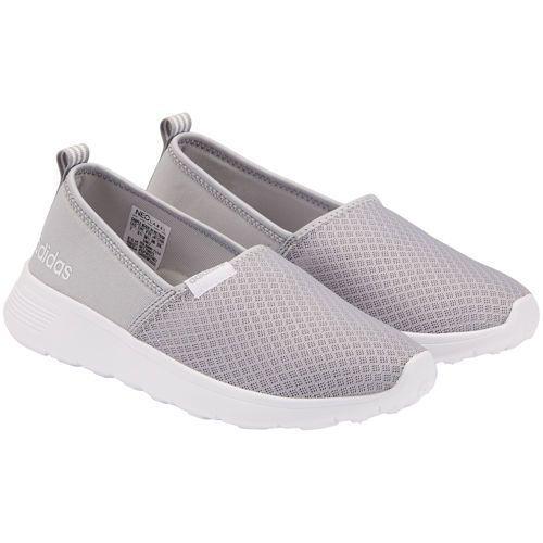 Adidas Ladies' Neo Lite Racer Slip On Shoe Gray | Slip on shoes ...